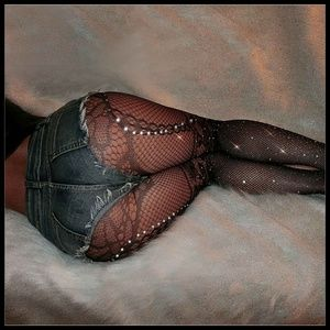 ❤️NEW Sexy Bling Fishnet Floral Stockings #D33